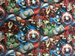 NEW! AVENGERS HULK IRON MAN CAPTAIN AMERICA THOR MARVEL- Fabric - Price Per Metre
